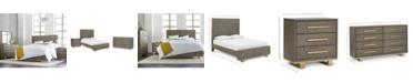 Furniture Petra Shagreen Bedroom Furniture, 3-Pc. Set (Queen Bed, Dresser & Nightstand)