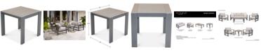 Furniture Aruba Gunmetal Aluminum End Table, Created for Macy's