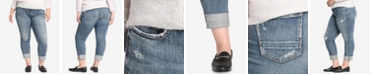 Silver Jeans Co. Plus Size Distressed Boyfriend-Fit Jeans