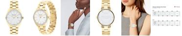 Movado Women's Swiss Heritage Series Datron Diamond (1/4 ct. t.w.) Pale Gold-Tone Stainless Steel Bracelet Watch 31mm