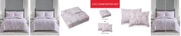 Pem America Paris 3-Pc. Full/Queen Comforter Mini Set, Created for Macy's