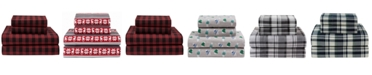 Elite Home Winter Nights Cotton Flannel King Sheet Set