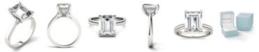 Charles & Colvard Moissanite Emerald Solitaire Ring (3-1/2 ct. t.w. Diamond Equivalent) in 14k White Gold