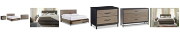 Furniture Avery Brown Storage Bedroom Furniture, 3-Pc. Set (Queen Bed, Dresser & Nightstand)
