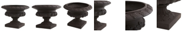 Nearly Natural 12.5-In. H Iron-finish Decorative Urn - Indoor/Outdoor