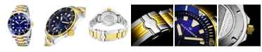 Stuhrling Alexander Watch A501B-03, Mens Quartz Diver Watch with Stainless Steel and Yellow-Gold Tone Case on Stainless Steel and Yellow-Gold Tone Bracelet
