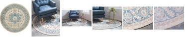 Bridgeport Home Bellmere Bel2 Ivory 8' x 8' Round Area Rug
