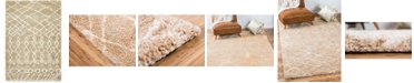 Bridgeport Home Fazil Shag Faz2 Tan 4' x 6' Area Rug