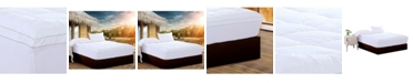 Ac Pacific Christies Home Living Square King Quilted Accent Piping Mattress Pad with Fitted Mattress Cover