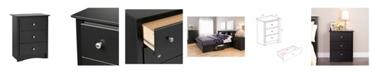 Prepac Sonoma 3-Drawer Tall Nightstand