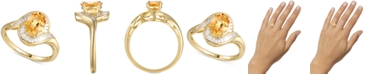 Macy's Citrine (1-1/8 ct. t.w.) & Diamond (1/4 ct. t.w.) Ring in 14k Gold