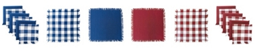 Design Imports Assorted Heavyweight Fringed Dishcloth, Set of 6