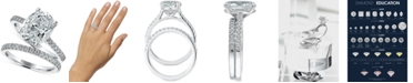 Macy's Star Signature Diamond LIMITED EDITION Oval Bridal Set (3-1/2 ct. t.w.) in 14k White Gold