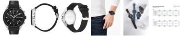 BOSS Men's Chronograph Velocity Black Silicone Strap Watch 45mm