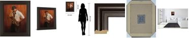 "Classy Art Sax Player Framed Print Wall Art, 22"" x 26"""