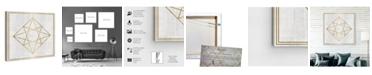 "Oliver Gal Whitewash Wood Geometric Diamond Canvas Art, 36"" x 36"""