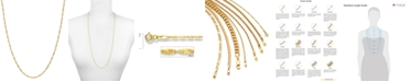 """Macy's 18"""" Singapore Chain Necklace (1-1/2mm) in 14k Gold"""