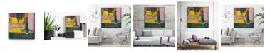 """Giant Art 20"""" x 20"""" City Lights II Art Block Framed Canvas"""
