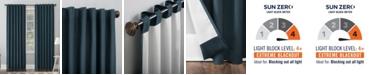 "Sun Zero Amherst Velvet 50"" x 63"" Thermal Blackout Curtain Panel"