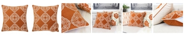Homey Cozy Anna Embroidery Velvet Square Decorative Throw Pillow