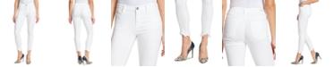 Skinnygirl Sarah Mid-Rise Frayed-Hem Ankle Jeans