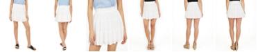 BCX Juniors' Tiered Gauze Mini Skirt