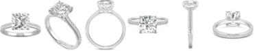 Charles & Colvard Moissanite Cushion Engagement Ring (2-5/8 ct. t.w. DEW) in 14k White Gold
