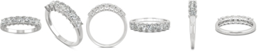 Charles & Colvard Moissanite Princess-Cut Band (2-7/8 ct. t.w. DEW) in 14k White Gold