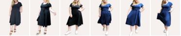 Ori Women's Plus Size Signature French Terry Midi Dress