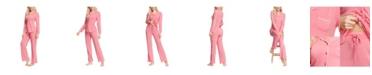 INK+IVY Women's Notch Collar Pajama Top and Pant Set