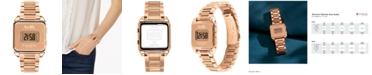 COACH Women's Darcy Digital Rose Gold-Tone Bracelet Watch 37x30mm