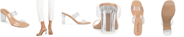 Wild Pair Zandria Two-Piece Clear Vinyl Dress Sandals, Created for Macy's