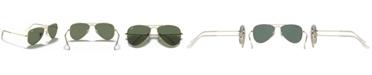 Ray-Ban Jr Ray-Ban Junior Sunglasses, RJ9506S AVIATOR MIRROR ages 4-6