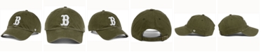 '47 Brand  Boston Red Sox Olive White CLEAN UP Cap