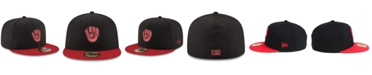 New Era Milwaukee Brewers Black & Red 59FIFTY Fitted Cap