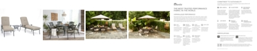Furniture Chateau Outdoor Aluminum 3-Pc. Chaise Set (2 Chaise Lounge & 1 End Table) with Sunbrella® Cushions, Created for Macy's
