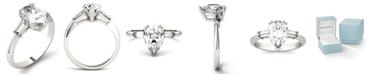 Charles & Colvard Moissanite Pear Engagement Ring (2-1/2 ct. tw. Diamond Equivalent) in 14k White Gold