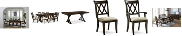 Furniture Baker Street Dining Furniture, 9-Pc. Set (Dining Trestle Table, 6 Side Chairs & 2 Arm Chairs)