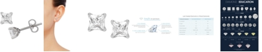 Grown With Love Lab Grown Diamond Princess Stud Earrings (2 ct. t.w.) in 14k White Gold