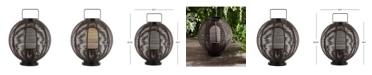 "JONATHAN Y Jigu 22"" Outdoor Woven Globe Asian LED Lantern"
