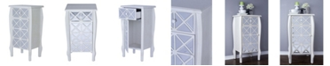 Heather Ann Creations Heather Ann Lana Mirrored Accent Cabinet with Drawer