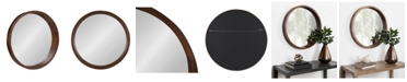 """Kate and Laurel Hutton Round Wood Wall Mirror - 22"""" D"""