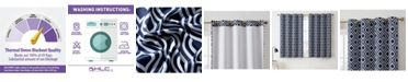 HLC.me Obscura by Albany Blackout Grommet Curtain Panels - 52 W x 63 L - Set of 2