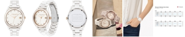 COACH Women's Preston White Ceramic Bracelet Watch 36mm
