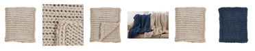 Saro Lifestyle Chunky Woven Knit Throw