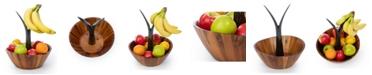 Casa Bellante Acacia Fruit Bowl with Banana Stem
