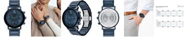 Movado Men's Swiss Chronograph Bold Evolution Blue Ion-Plated Steel Bracelet Watch 42mm