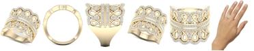 Macy's Diamond Crown Statement Ring (1 ct. t.w.) in 14k Gold