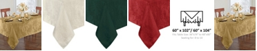 "Elrene Elrene Poinsettia Jacquard Holiday Tablecloth - 60"" x 102"""