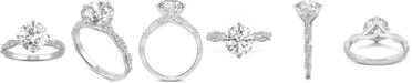 Charles & Colvard Moissanite Twist Engagement Ring (2-1/3 ct. t.w. DEW) in 14k White Gold